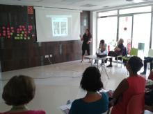 Uno de los espacios formativos y talleres sobre comunicación